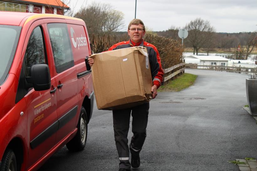 Postmannen vår er en hyggelig kar