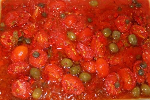 Pomodorini naturale fra La Baita. Tomatene er dyrket på produsentens egen gård i Gazzo d Árrocia 700 m.o.h. mellom Savona og San Remo i Nord- Italia.